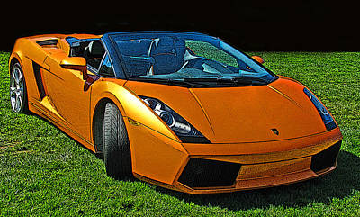 Photograph - Lamborghini Gallardo Spyder by Samuel Sheats