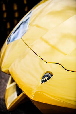 Photograph - Lamborghini Hood Emblem -1661c by Jill Reger