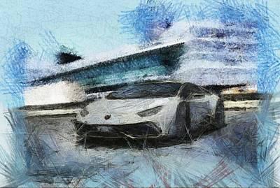 Lamborghini Huracan Art Print by Mario Carini