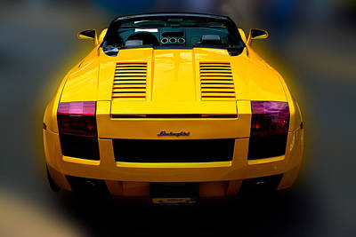 Photograph - Lamborghini In Yellow by William Jobes
