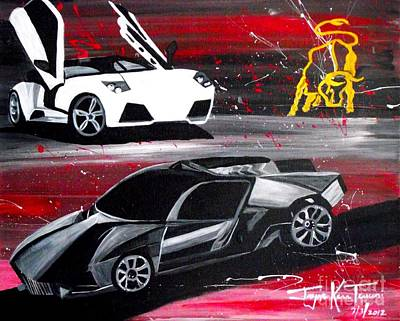 Painting - Lamborghini Leverage by Jayne Kerr