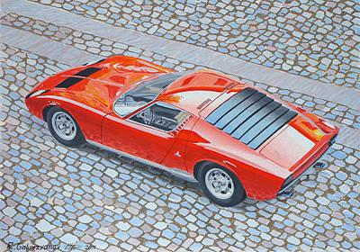 Lamborghini Miura Art Print by Rimzil Galimzyanov