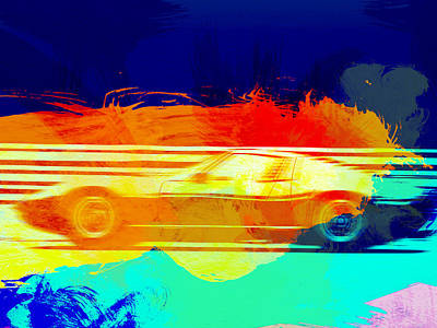 Old Cars Painting - Lamborghini Miura Side 1 by Naxart Studio