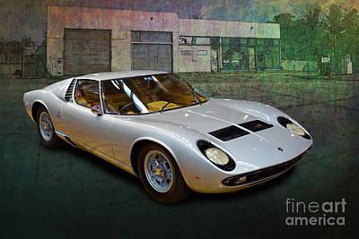 Photograph - Lamborghini Muira by Stuart Row