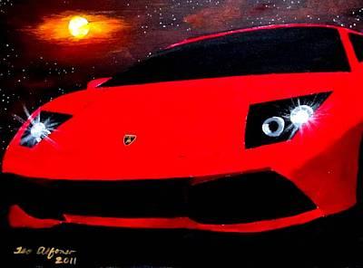 Painting - Lamborghini Murcielago by Teo Alfonso