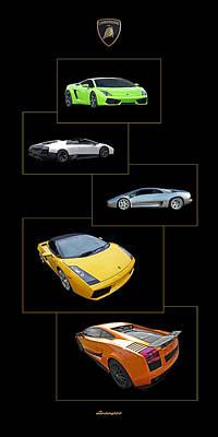 Raging Bull Photograph - Lamborghini Panoramic Vertical Poster by Gill Billington