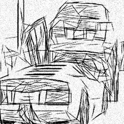 Super Cars Drawing - Lamborghini Pile Up by Jonathan Harnisch