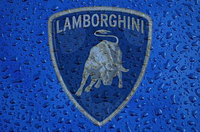 Lamborghini Rainy Window Visual Art Art Print by Movie Poster Prints