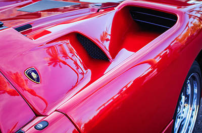 Photograph - Lamborghini Side Emblem -0116c by Jill Reger
