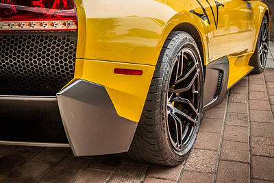 Photograph - Lamborghini - Side View by James Woody