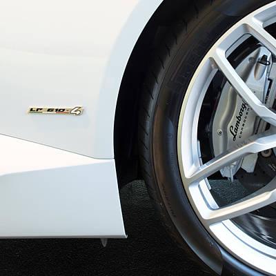 Photograph - Lamborghini Wheel Brake 012515 by Rospotte Photography
