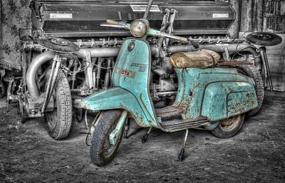 Mauro Pyrography - Lambretta by Mauro Celotti