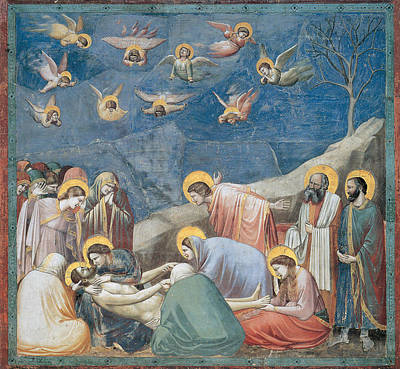 Body Of Christ Painting - Lamentation by Giotto