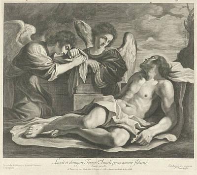 Lamentation Of Christ By Angels, Nicolas Pitau Art Print