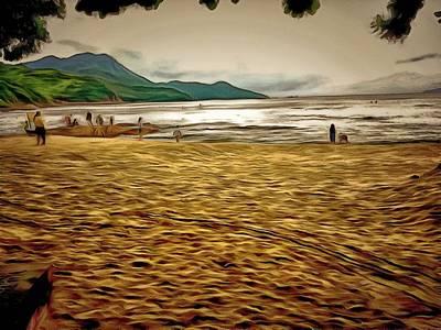Digital Art - Lamma Island Beach 1 by Yury Malkov