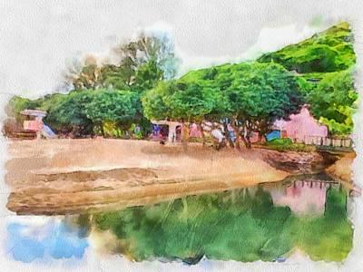 Digital Art - Lamma Island Beach 2 by Yury Malkov
