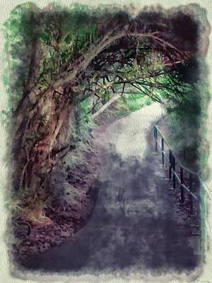 Digital Art - Lamma Island Hong Kong Paths by Yury Malkov