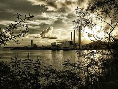 Digital Art - Lamma Island Power Station 1 by Yury Malkov