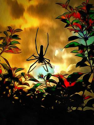 Digital Art - Lamma Island Spider by Yury Malkov