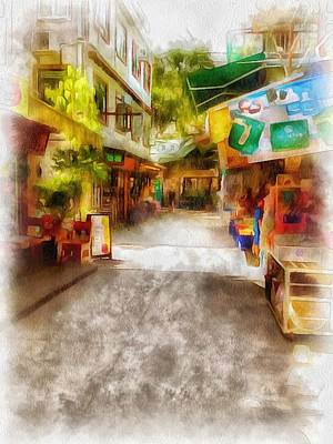 Digital Art - Lamma Island Village 2 by Yury Malkov