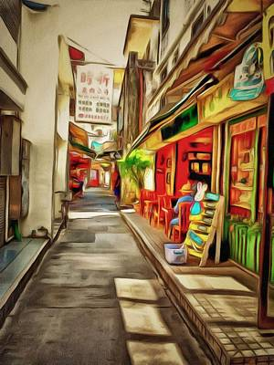 Digital Art - Lamma Island Village 3 by Yury Malkov