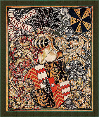 Digital Art - Lamoral Count Of Egmont Medieval Coat Of Arms by Serge Averbukh