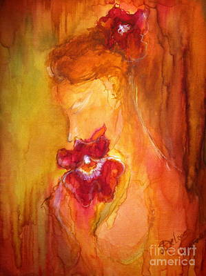Art Print featuring the painting L'amour  by Delona Seserman