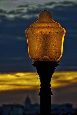 Photograph - Lamp And Capitol - Madison - Wisconisn by Steven Ralser