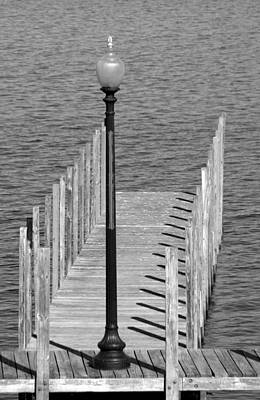 Photograph - Lamp And Pier by Caroline Stella