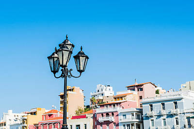 Photograph - Lamp In Agios Nikolaos by Luis Alvarenga