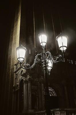 Lamp Light St Mark's Square Art Print
