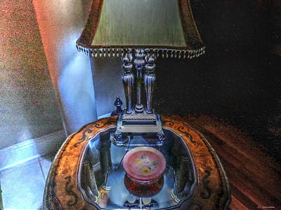 Photograph - Lamp On Table by Cathy Jourdan