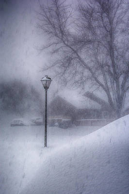 Photograph - Lamp Post In The Snow by Guy Whiteley