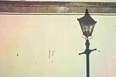Dappled Light Photograph - Lamp Post Shadow by Tom Gowanlock