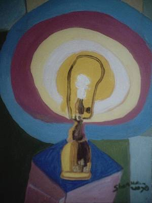 Painting - Lamp Without A Shade by Shea Holliman