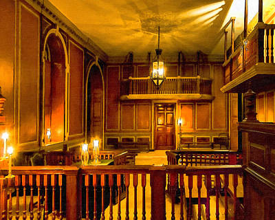 Photograph - Lamplight In Virginia's Colonial Capitol by Mark E Tisdale