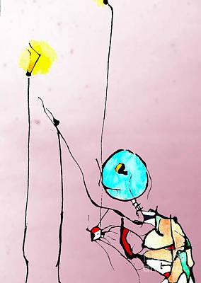 Lamp Mixed Media - Lamplight by Jeff Barrett