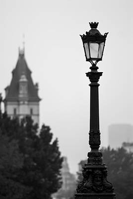 Lamppost At Pont Neuf Paris Art Print
