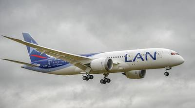Photograph - Lan Airlines 787 by Jeff Cook