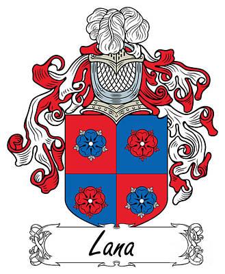 Lana Digital Art - Lana Coat Of Arms Italian by Heraldry