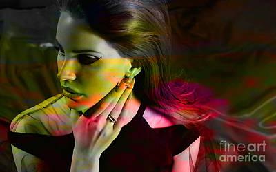 Lana Del Rey Mixed Media - Lana Del Rey by Marvin Blaine