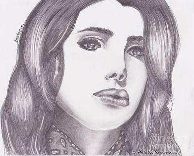 Lana Del Rey Drawing - Lana Del Rey by Natalie Rogers