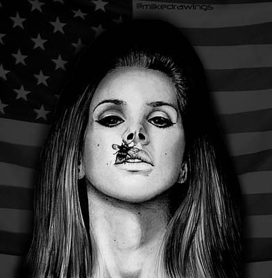 Igers Drawing - Lana Del Rey Pride by Mike Sarda