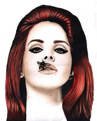 Lana Del Rey Drawing - Lana Del Rey by Veronica Crockford