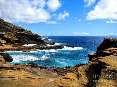 Art Print featuring the photograph Lanai Scenic Lookout by Kristine Merc