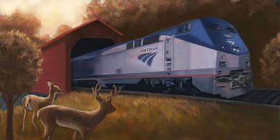 Amish Farms Digital Art - Lancaster Amtrak by Barry Sachs