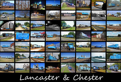 Lancaster And Chester Railway Collage Art Print by Joseph C Hinson Photography