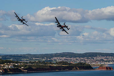 Photograph - Lancaster Bombers Over Dawlish by Ken Brannen