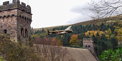 Lancaster Kc-a At The Derwent Dam Art Print