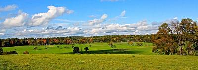 Photograph - Lancaster Ma Farmland In Autumn 1 by Michael Saunders
